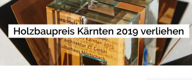 Anerkennungspreis beim Holzbaupreis Kärnten